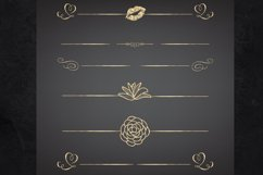 22 Page Dividers and Borders, Gold Foil Clipart Dividers Product Image 5