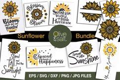 Sunflower svg bundle, sunshine svg bundle, motivational svg Product Image 1