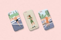 Tennis characters vector collection Product Image 5