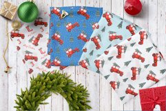 Watercolor Christmas Cars Clipart Product Image 6