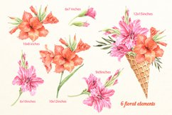 Lilies watercolor flower collection Product Image 2