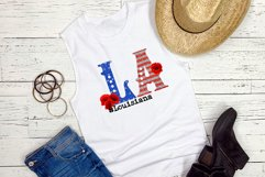 State abbreviation. USA sublimation. Louisiana Product Image 2