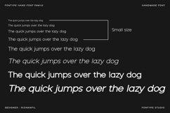 Fontype Hand - Handmade Font Modern Style Product Image 5