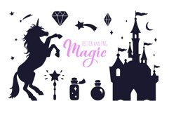 Fairy tale magic silhouettes with poster concept Product Image 1
