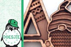 Gnome letters 3D multi layer mandala layered alphabet bundle Product Image 7