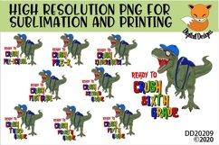 TRex Dinosaur Ready To Crush Grade School Sublimation Bundle Product Image 1