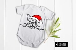 French bulldog in Santa hat svg, Frenchie svg file New year Product Image 2