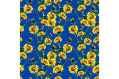Seamless flowers pattern with dandelion leaves and flowers. Product Image 1