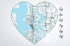 Seattle WA city road map svg, eps, dxf, png, jpg Product Image 1