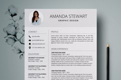 Resume Template | CV Cover Letter - Amanda Stewart Product Image 1