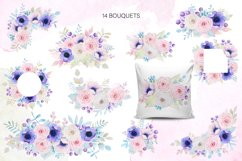 Roses and anemones watercolor floral Product Image 4