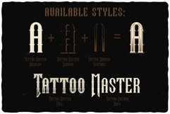 Tattoo Master. Font and graphics. Product Image 4
