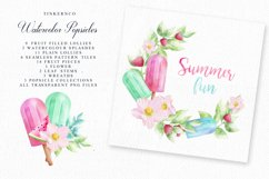 Summer Watercolor Popsicle Graphics Set and Patterns Product Image 6