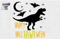 Happy HallRAWRween SVG - Halloween Dinosaur - Halloween SVG Product Image 4