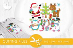 Winter Friends cutting files svg, dxf, pdf, eps included - cut files for cricut and silhouette - Cutting Files SG Product Image 1
