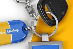 Branded Keychain With Flash Drive Mockup Product Image 2