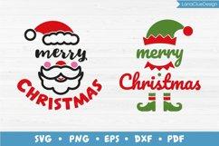Merry Christmas - Santa and Elf - 2 items, Christmas SVG Product Image 1
