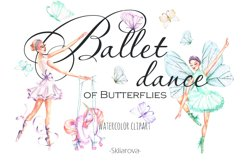 Ballet watercolor clip art Product Image 1