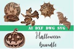3d mandala Halloween svg bundle 5 designs Product Image 1