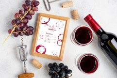 Watercolor Wine Stains, Rings and Splashes Clipart Product Image 2