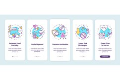 Breastfeeding benefits onboarding mobile app page screen Product Image 1