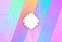 16 Pastel Rainbow Textures Scrapbook Papers Product Image 4
