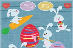 Easter bunny clip art - Personal and commercial use - Easter Product Image 2