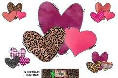 Valentine's Day Heart Elements Dye Sublimation Bundle Product Image 1