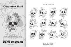 Ornament Skull Illustrations Product Image 1