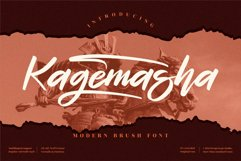 Kagemasha - Modern Brush Font Product Image 1