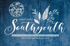 Web Font Southyouth Script Font Product Image 1