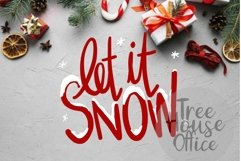 Let It Snow Christmas Song Quote Saying Holiday SVG DXF PNG Product Image 1