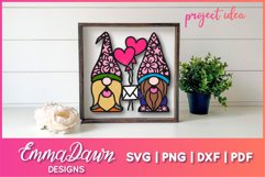 GUS & GINO THE GNOME LOVERS SVG VALENTINES DAY MANDALA Product Image 5
