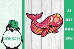 Whale SVG layered 3d multi layer mandala sea animal nautical Product Image 12