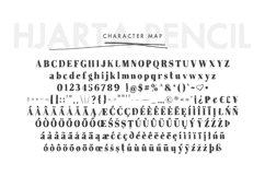 Hjarta - A Pencil Drawn Font Trio Product Image 5
