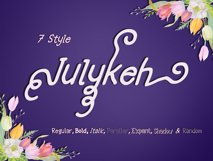 Julykeh handmade 7 Style Font Product Image 2