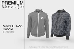 Men's Full-Zip Hoodie Mockup Product Image 1