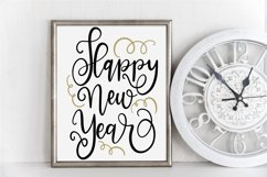 New Year SVG - Happy New Year Hand-Lettered Cut File Product Image 1
