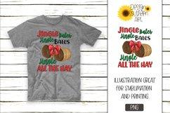 Sublimation Designs for Tshirts Jingle Bale Christmas Design Product Image 1