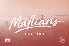 Mallians   Bold Signature Font Product Image 1