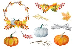 Autumn Clipart Watercolor Product Image 2