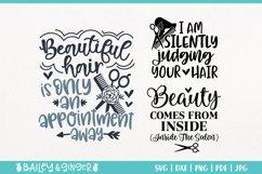 Hairdresser SVG Bundle | Hair Stylist & Hair Salon SVG Files Product Image 6