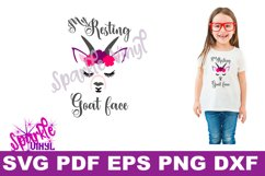 SVG, svg files, Goat, Goat face, Goat svg, Goat art, funny goat, goat shirt, goat gift, files for cricut, printable, goat pdf, goat shirt for woman Product Image 2