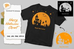 Halloween Clipart, Silhouette SVG JPG PNG EPS10 Product Image 1