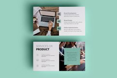 PPT Template | Business Plan - Green and Marble Product Image 4