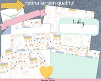 Digital planner piñata stickers Goodnotes and precropped png Product Image 5