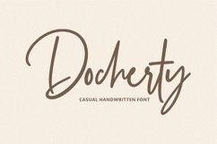 Docherty - Casual Signature Font Product Image 1