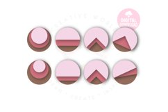 Round Stacked Earring Template |48 Templates Earring svg Product Image 2