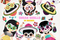 Day of the Dead clipart - Sugar Skull - Dia de los muertos Product Image 1