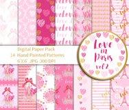 Love Digital Paper Product Image 1